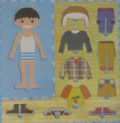 Wooden Puzzle - Dress up Boy